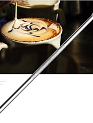 Stainless Coffee Crochet Needle Stick Carved Painted Flowers Carved Fancy Coffee Needle(1 Pcs)