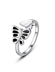 Fashionable Korean Fine Jewelry Double Butterfly sterling silver jewelry Vintage/Cute/Party/Work/Casual  Adjustable Ring
