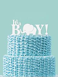 It's A Boy Wedding Cake Topper