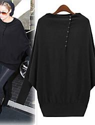 Women's Tops & Blouses , Knitwear Sexy/Casual/Work Long Sleeve Shibeini