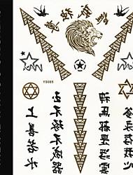 2015 New Metallic Flash Tatoo Temporary Stickers Waterproof Sexy Tattoo Body Art\Chinese Lette VS Lion\Fake Tattooing