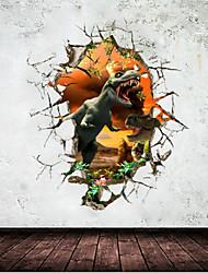 2015 novo zooyoo®1461 decoração parque jurássico dinossauros adesivos de parede casa