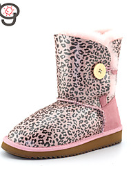 MG Women Winter Boots Fashion Women Shoes Botas Sheepskin Snow Boots Flat Heels Warm Shoes