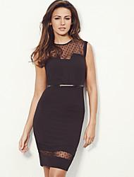 Vestidos ( Negro , Spandex/Tul/Licra , Ropa de Noche ) - Ropa de Noche - para Mujer