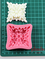 A Square Flower Fondant Cake Chocolate Silicone Molds,Decoration Tools Bakeware