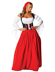 Cosplay Costumes/Party Costumes Beautiful Flat Collar Cotton/Terylene Female Oktoberfest Costumes Halloween/Christmas/New Year