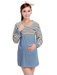 Vestido de maternidad Mini Algodón - Escote Redondo Sin Mangas