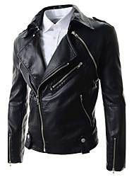 ROYW Men's Coats & Jackets , PU Long Sleeve Casual Winter ROYW