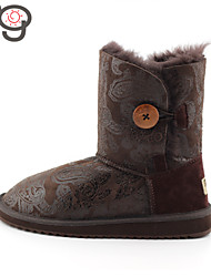 MG Winter Shoes Snow Boots Keep Warm New Fashion Ankle Boots Women Sheepskin Shoes