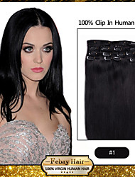 clip in hair black 20 inches 100 grams