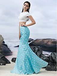 Formal Evening Dress - As Picture Trumpet/Mermaid Jewel Floor-length Knit