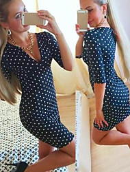 Women's V-Neck Dresses , Others Casual/Party Short Sleeve Susie