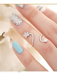 LJD diamant fleur Bague papillon