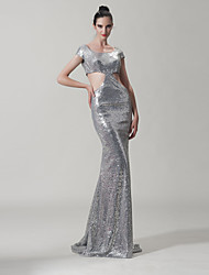 Trumpet/Mermaid Scoop Court Train Sequined  Occasion Dresses