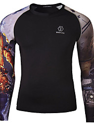 Men's Long Sleeve Autumn Cycling T-shirt Breathable/Quick Dry/Wicking As Picture M/L/XL/XXL/XXXL/XXXXL Stretchy