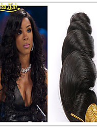 "3pcs/Lot Brazilian Virgin Hair Remy Human Hair Weft Extensions 8""-32"" Loose Wave Natural Color Top 8A Free Shipping"