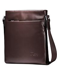 cuero genuino de la vendimia para los hombres marrones de moda única maletines de diseño hombres bolso del negocio de mensajería