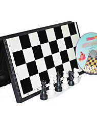 3D International Standard Chess with Magnetic Folding Board Game Set (Random Color)