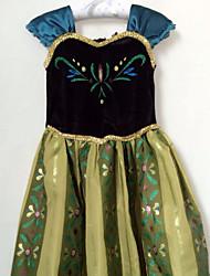 Girl's Cotton Blend Flower girl/princess Dress Summer Sleeveless