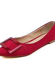 Women's Shoes Flat Heel Closed Toe Flats Casual Black/Red