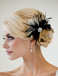 Hand Made Wedding Feather Hair Clip Fascinator Headpieces Fascinators 036
