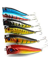 """6pcs pcs Popper / leurres de pêche Popper Noir / Bleu Foncé / Or / Couleurs assorties / Bleu / Rouge 14g g/1/2 Once,90mm mm/3-1/2"""" pouce,"""