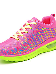 Women's Sneakers Fall Comfort Tulle Outdoor / Athletic Flat Heel Others Black / Blue / Pink Fitness Training