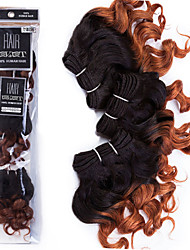 Halloween 3 Pieces Loose Wave Human Hair Weaves Peruvian Texture Human Hair Weaves Loose Wave