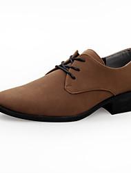 Oxfords ( Cuero , Negro/Marrón/Naranja/Rojo Zapatos de hombre
