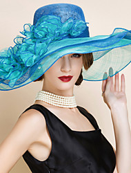 Women's Flax Headpiece-Wedding / Special Occasion Hats 1 Piece Head circumference Adjustable(54-58cm)