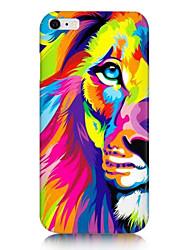 teste padrão colorido leão de volta caso para iphone 6s 6 mais