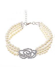 Bracelet - en Alliage/Imitation Perle - Décontracté - Lien / Chaîne/Perlé