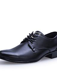 Черный / Коричневый Мужская обувь Для вечеринки / ужина Искусственная кожа Оксфорды