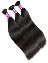 "3Pcs/Lot Factory Wholesale Brazilian Human Virgin Bulk Hair Extensions Unprocessed Human Hair Bulk 300G Lot 14""-32"""
