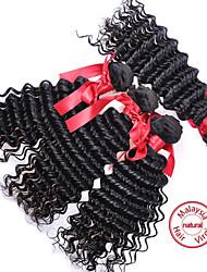 evet extensión del pelo virginal malasio 4 paquetes del pelo humano malasio 6a onda floja sin procesar armadura virginal del pelo # 1b