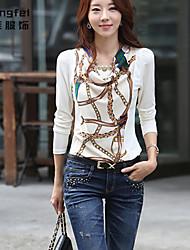 Damen T-Shirt Polyester Langarm