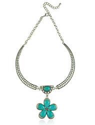 Femme Collier court /Ras-du-cou Coquillage Turquoise Alliage euroaméricains Vintage Personnalisé Bijoux PourMariage Soirée Occasion
