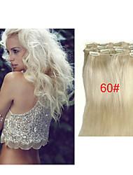 "16""-28"" Peruvian Clip in Human Hair Extensions Peruvian Straight Virgin Hair Clip in Extension 7pcs/pack"