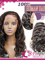 Brazilian Human Hair Lace Front Wigs 130% #1 #1B #2 #4 Body Wave Glueless Wig Half Wig