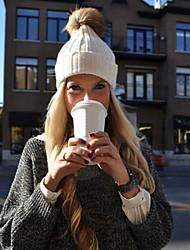 Women Knitwear Winter Wool Warm Cap