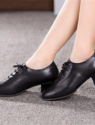 Scarpe da ballo - Non personalizzabile - Donna - Latinoamericano - Tacco spesso - Pelle - Nero