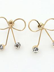 Earring Stud Earrings / Drop Earrings Jewelry Women Alloy / Cubic Zirconia / Rhinestone 1set Gold / Silver
