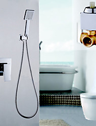 Brass Construction Concealed In Wall Rainfull Waterfall Bathroom Shower Mixer Faucet