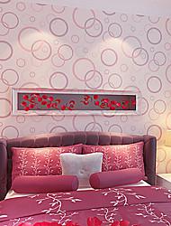 New Rainbow™ Contemporary Wallpaper Art Deco Fashion Circle Wallpaper Wall Covering Non-woven Fabric Wall Art