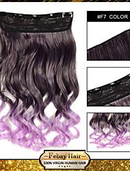 resistencia a altas temperaturas en dos tonos ondulado 5 clips de extensión peluca 24 pulgadas 16 colores disponibles f7
