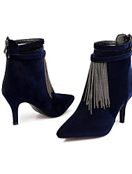 Women's Shoes Fleece Stiletto Heel Bootie/Pointed Toe Boots Dress/Casual Black/Brown/Navy