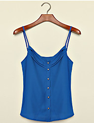 Women's Vintage Sexy Casual Cute Sleeveless Vest , Chiffon