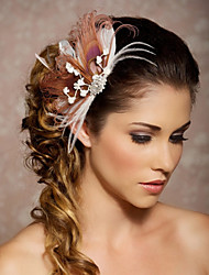 Hand Made Wedding Feather Hair Clip Fascinator Headpieces Fascinators 020