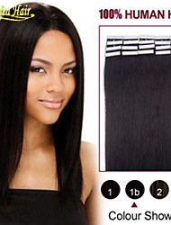 Tape in Skin weft 18''-28'' 100g Straight Brazilian Hair Skin Weft Tape In On Human Hair Extensions Glue Skin weft