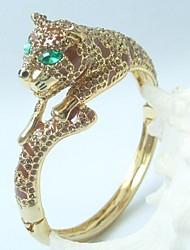 Unique Tiger Bracelet Bangle With Topaz Rhinestone crystals